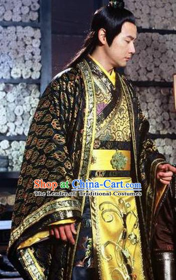 Ancient Chinese Chunqiu Period Jin Kingdom Prince Shen Sheng Replica Costume for Men