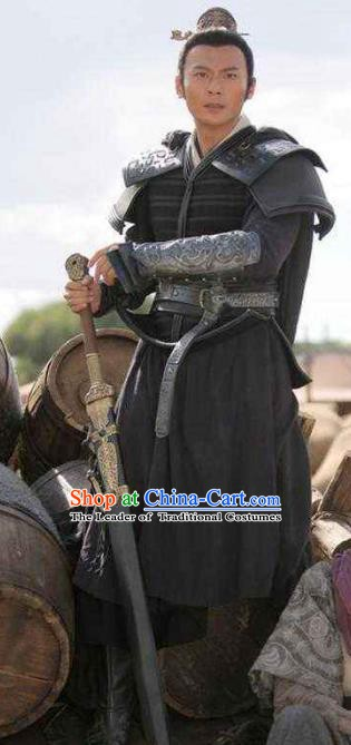 Ancient Chinese Han Dynasty General Knight-errant Replica Costume for Men