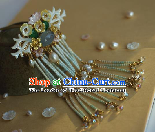 Traditional Chinese Ancient Long Tassel Hair Stick Classical Hair Accessories Handmade Hairpins for Women