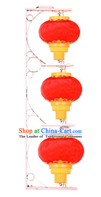 Traditional Handmade Chinese Red Lanterns Spring Festival Electric LED Lights Street Light Lamp Decoration