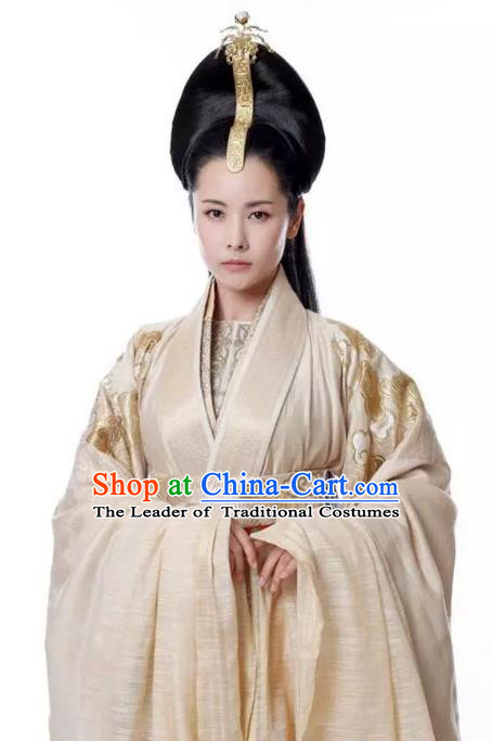 Untouchable Lovers Chinese Ancient Empress Replica Costume Palace Lady Hanfu Dress for Women