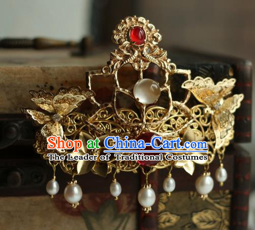 Traditional Chinese Ancient Handmade Phoenix Coronet Hair Stick Classical Hair Accessories Hairpins for Women