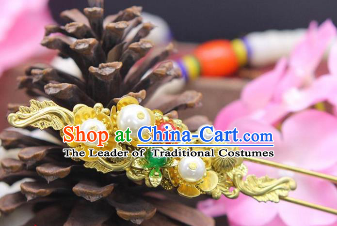 Chinese Ancient Hair Accessories Hanfu Hairpins Traditional Xiuhe Suit Hair Clip Headwear for Women