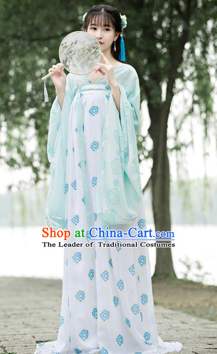 Traditional Chinese Ancient Palace Lady Costume Tang Dynasty Court Maid Hanfu Dress for Women