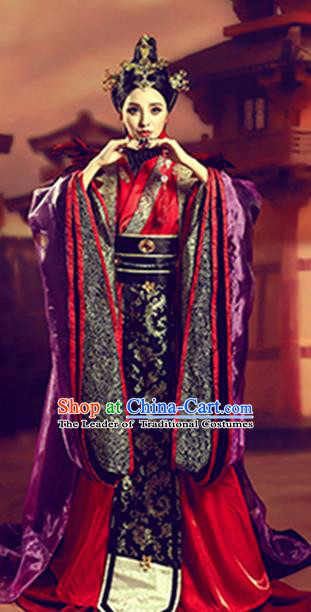 Traditional Chinese Ancient Imperial Consort Costume, China Qin Dynasty Palace Lady Clothing for Women