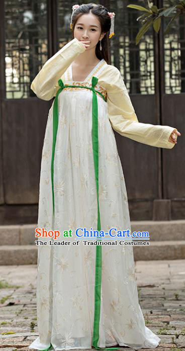 Traditional Chinese Ancient Palace Lady Embroidered Costume Tang Dynasty Swordswoman Hanfu Dress for Women
