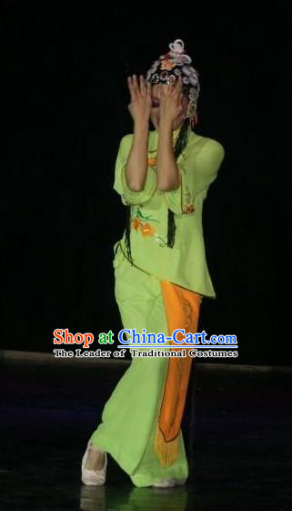 Traditional Chinese Classical Dance Folk Dance Costume, China Beijing Opera Stage Performance Dress Clothing for Women