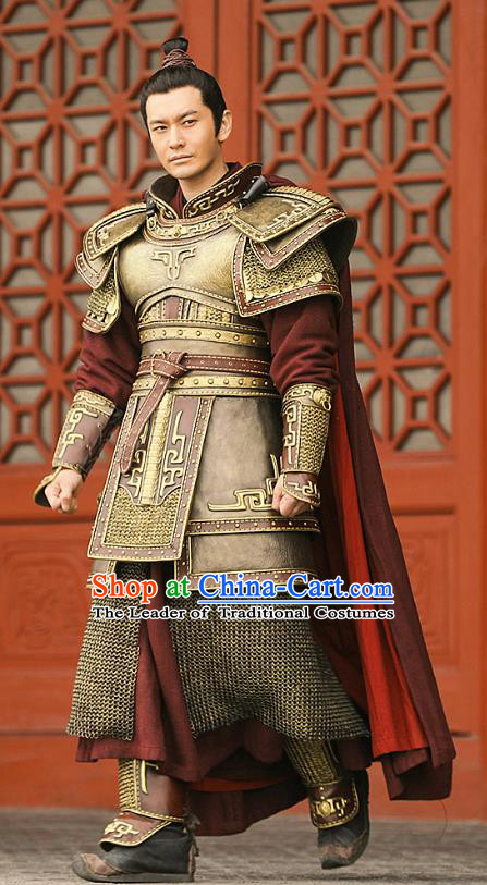 Nirvana in Fire II Chinese Ancient Southern and Northern Dynasties General Armour Swordsman Xiao Pingzhang Historical Costumes for Men