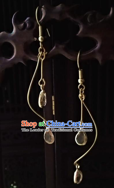 Chinese Traditional Ancient Accessories Earrings Classical Hanfu Eardrop for Women