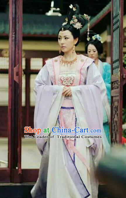 Chinese Ancient Nobility Lady Hanfu Dress Tang Dynasty Las Meninas Embroidered Costumes for Women