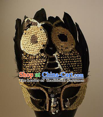 Halloween Exaggerated Owl Face Mask Venice Fancy Ball Props Stage Performance Accessories Christmas Mysterious Masks