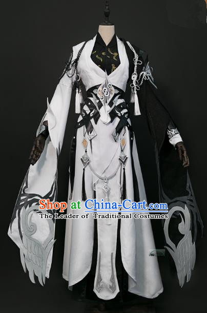 China Ancient Cosplay Taoist Priest Swordsman Costumes Chinese Traditional Knight-errant Clothing for Men