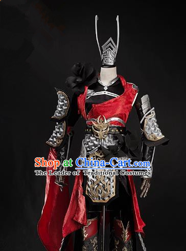 China Ancient Cosplay Female Swordsman Costumes Chinese Traditional Heroine Knight-errant Clothing for Women