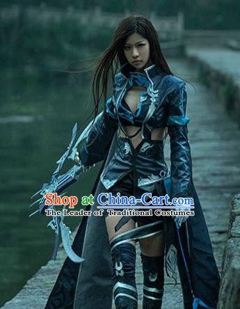 China Ancient Cosplay Female General Costumes Chinese Traditional Swordsman Warriors Knight-errant Clothing for Women