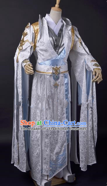 Traditional China Ancient Taoist Cosplay Swordsman Costumes Chinese Knight-errant Clothing for Men