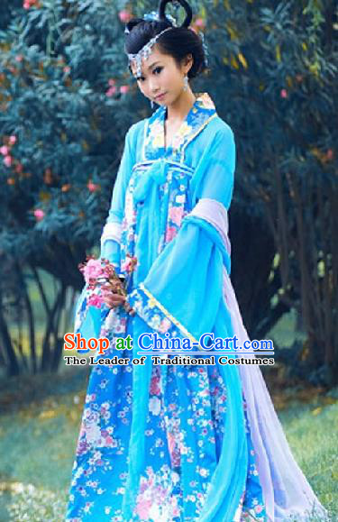 Chinese Traditional Princess Hanfu Dress Ancient Tang Dynasty Palace Lady Costume for Women