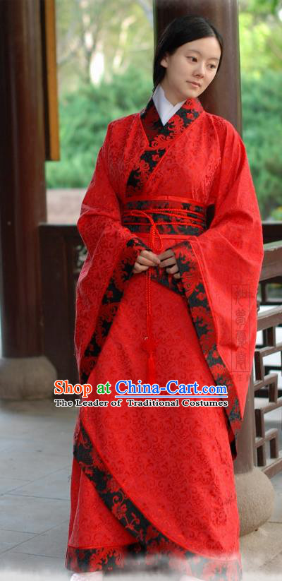 Chinese Traditional Princess Hanfu Dress Ancient Han Dynasty Palace Lady Costume for Women