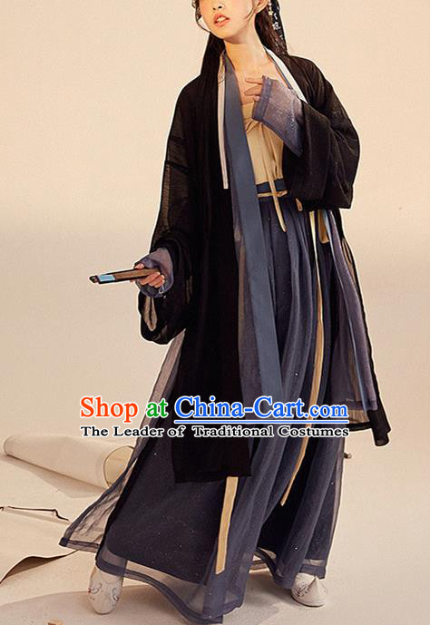 Chinese Traditional Hanfu Dress China Ancient Song Dynasty Young Lady Costumes Complete Set