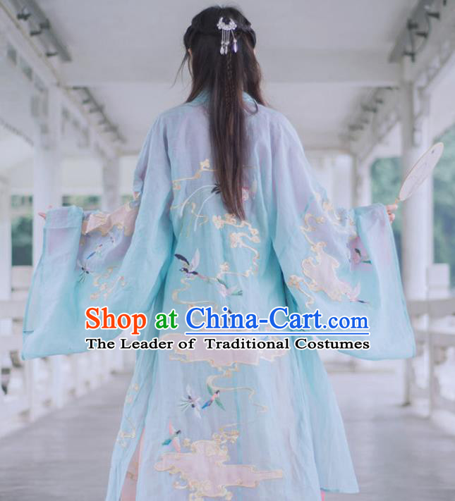 Chinese Ancient Palace Lady Hanfu Tang Dynasty Imperial Concubine Queen Embroidered Historical Costumes for Women