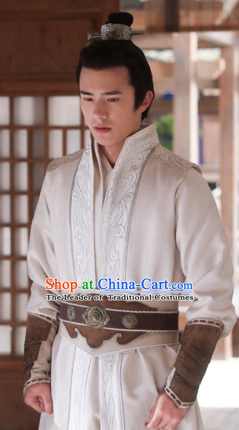 Chinese Ancient Nirvana in Fire Young Swordsman Nobility Childe Xiao Pingjing Replica Costume for Men