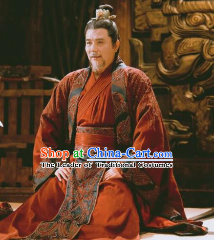 Chinese Ancient Nirvana in Fire Royal Highness Changlin General Xiao Tingsheng Replica Costume for Men