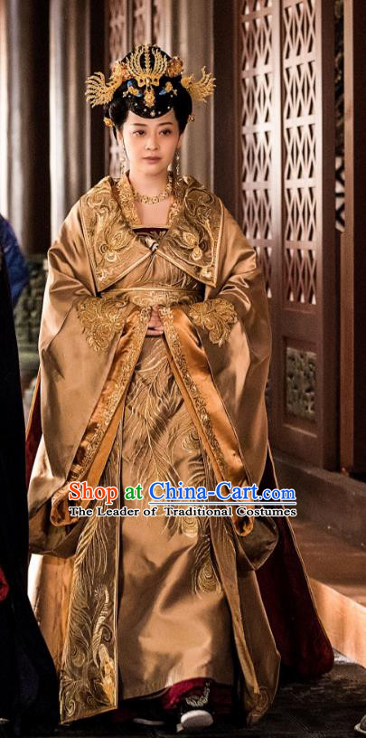 Chinese Ancient Nirvana in Fire Empress Xun Hanfu Dress Palace Queen Embroidered Replica Costume for Women