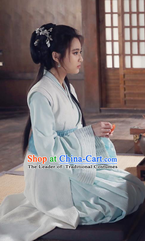 Chinese Ancient Nirvana in Fire Nobility Lady Lin Xi Hanfu Female Physician Replica Costume for Women