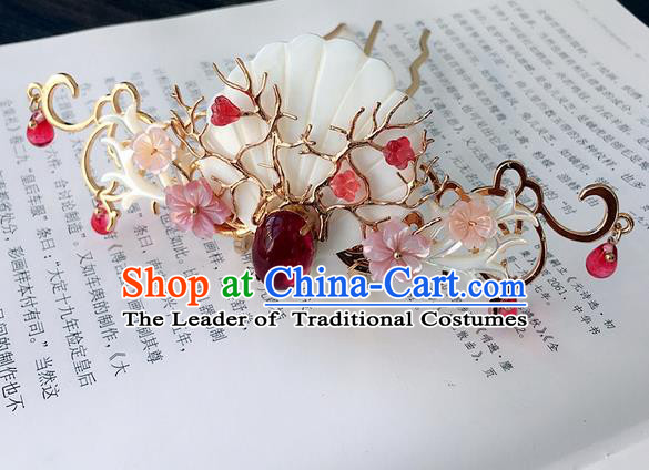 Traditional Handmade Chinese Ancient Classical Hair Accessories Hairpins Shell Hair Stick for Women