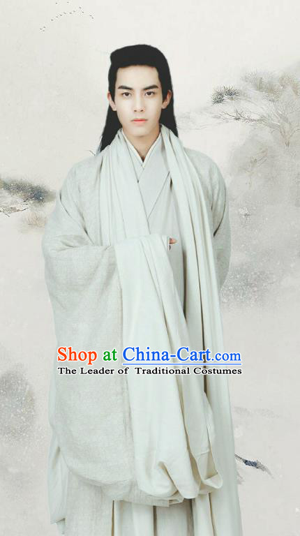 Traditional Chinese Ancient Nobility Childe Costume Untouchable Lovers Northern and Southern Dynasties Retainer Hanfu Clothing for Men