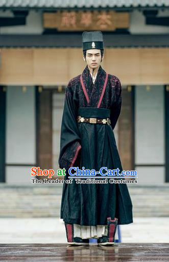 Traditional Chinese Ancient Minister Costume Untouchable Lovers Chancellor Knight-errant Clothing for Men