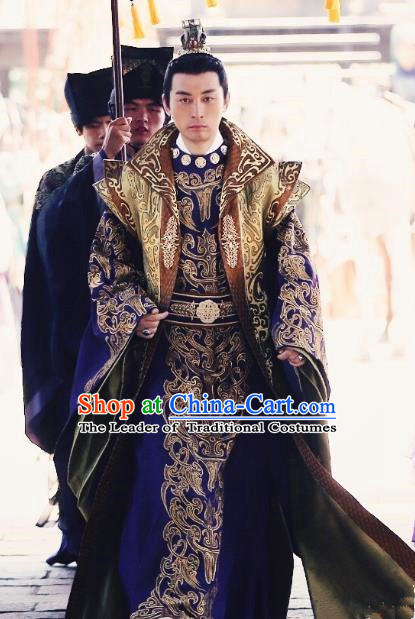 Chinese Ancient Northern and Southern Dynasties Royal Highness Costume Prince Replica Costumes for Men