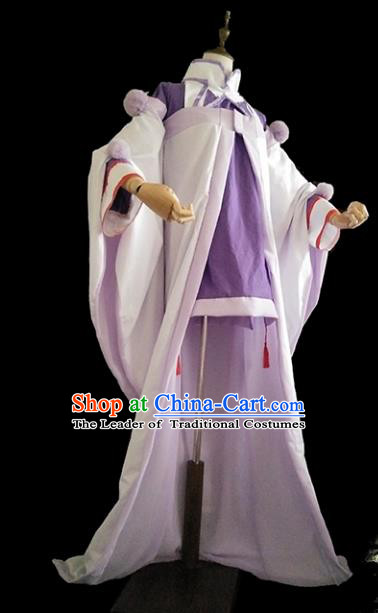 Chinese Ancient Cosplay Swordswoman Purple Hanfu Dress Han Dynasty Female Knight-errant Costume for Women