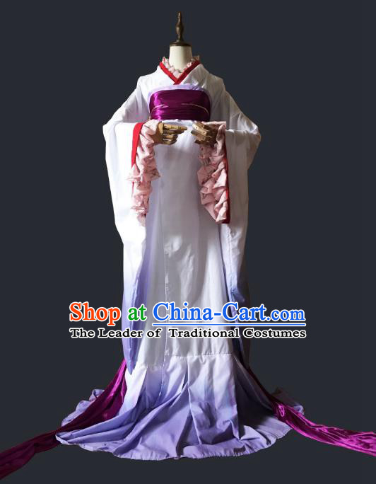 Chinese Ancient Cosplay Swordsman Hanfu Dress Tang Dynasty Princess Costume for Women