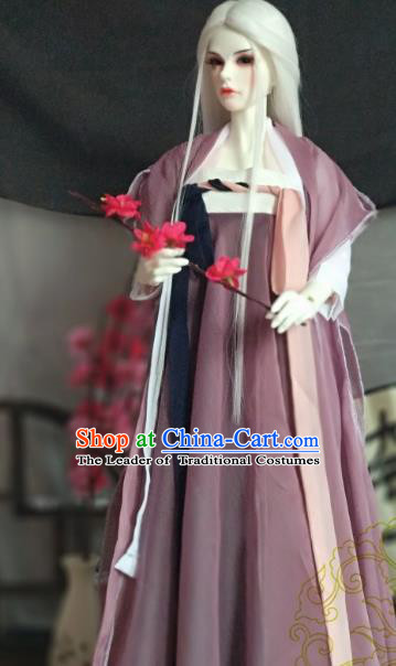 Chinese Ancient Taoist Nun Costume Cosplay Swordswoman Clothing Tang Dynasty Young Lady Hanfu Dress for Women