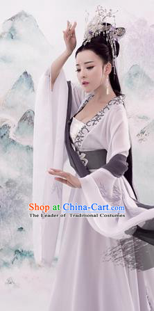 Traditional Chinese Ancient Imperial Concubine Dress Tang Dynasty Princess Embroidered Costume and Headpiece for Women