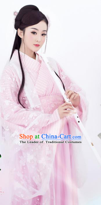 Traditional Chinese Ancient Imperial Concubine Dress Han Dynasty Princess Embroidered Costume for Women