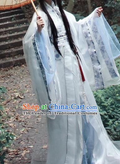 Chinese Ancient Cosplay Nobility Childe Costumes Jin Dynasty Scholar Swordsman Hanfu Clothing for Men