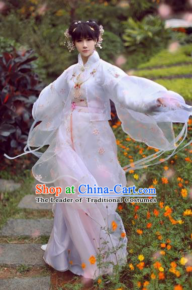 Ancient Chinese Princess Clothing Song Dynasty Palace Lady Embroidered Costumes for Women