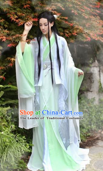 Chinese Ancient Nobility Childe Costume Jin Dynasty Swordsman Knight Clothing for Men