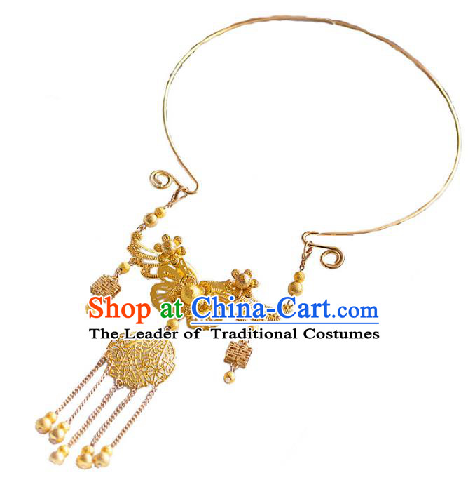 Top Grade Chinese Handmade Wedding Accessories Bride Hanfu Necklace for Women