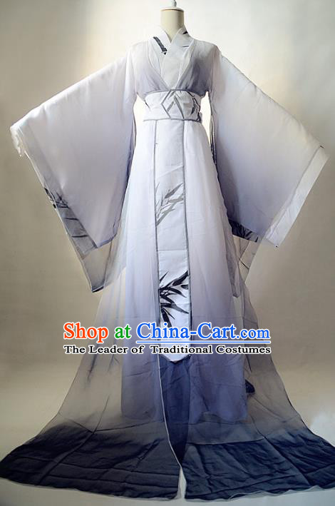 Chinese Ancient Cosplay Nobility Childe Costume Jin Dynasty Prince Swordsman Clothing for Men