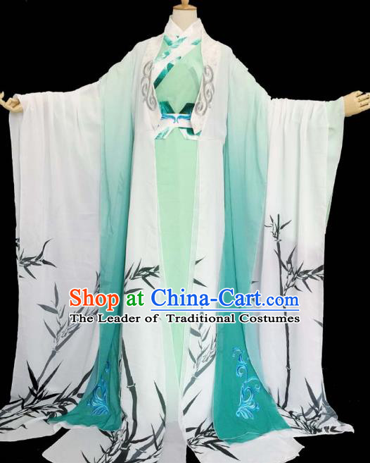 Chinese Ancient Cosplay Nobility Childe Green Costume Han Dynasty Prince Swordsman Clothing for Men