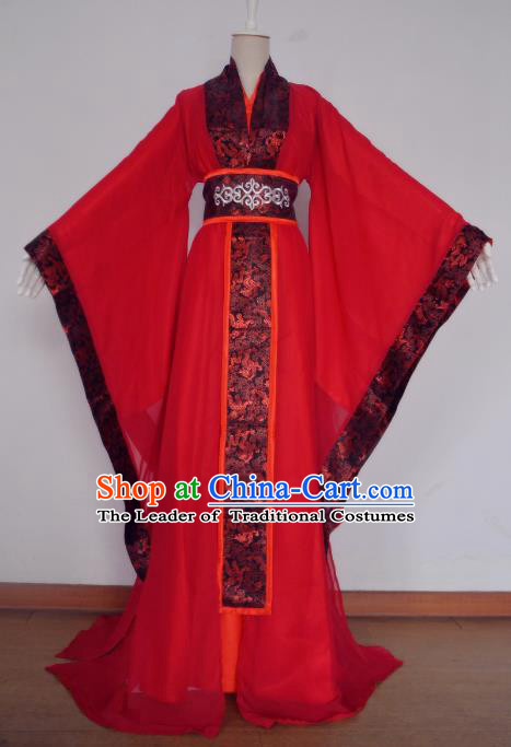 Chinese Ancient Cosplay Scholar Wedding Costume Han Dynasty Bridegroom Swordsman Clothing for Men