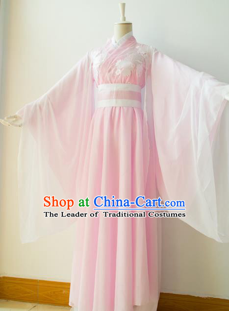 Chinese Traditional Han Dynasty Princess Pink Hanfu Dress Ancient Cosplay Imperial Consort Costume for Women