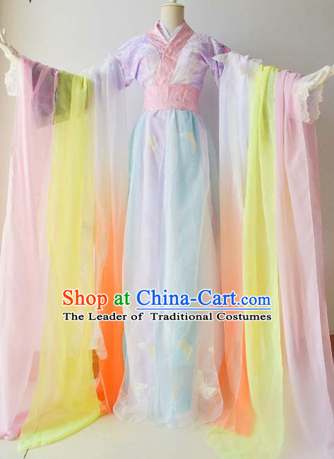 Chinese Traditional Han Dynasty Nobility Lady Hanfu Dress Ancient Swordsman Costume for Women