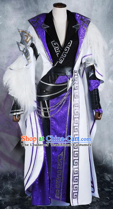 Chinese Ancient Cosplay Warrior Costume Swordsman Clothing for Men