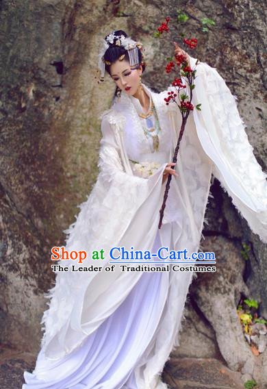 Chinese Ancient Cosplay Princess Dress Nobility Lady Embroidered Costume for Women