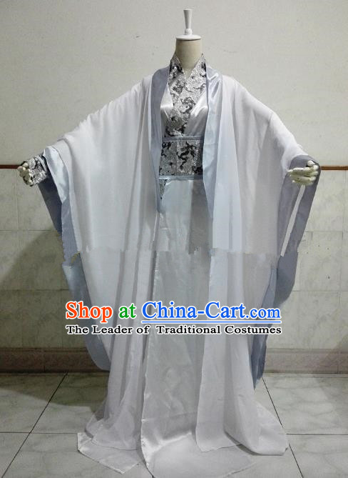Chinese Han Dynasty Royal Highness Hanfu Ancient Swordsman Prince Clothing for Men