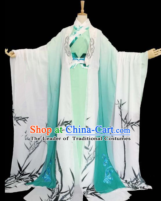 Chinese Han Dynasty Nobility Childe Hanfu Ancient Swordsman Printing Bamboo Clothing for Men