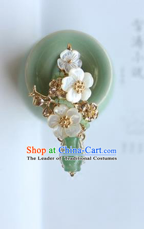Chinese Ancient Handmade Palace Vase Hair Claw Hair Accessories Hanfu Tassel Hairpins for Women